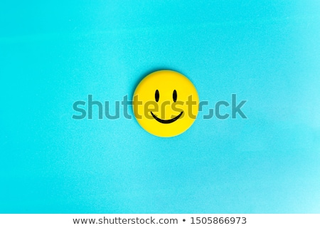 Fun smiley face icons copy space background Stock photo © cienpies