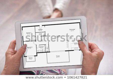 Digital Tablet With Floor Plan Stock photo © AndreyPopov