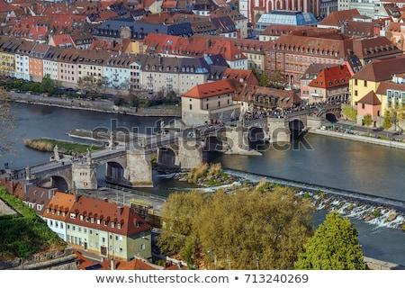 Alte Mainbrucke (old bridge), Wurzburg, Germany Stock photo © borisb17