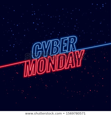 neon style cyber monday text design background stock photo © SArts