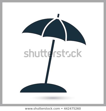 Parasol ikona wektora obraz obiektu line Zdjęcia stock © smoki