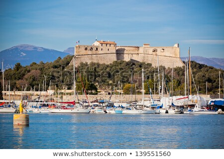 Stock photo: Harbor Antibes with fort carre