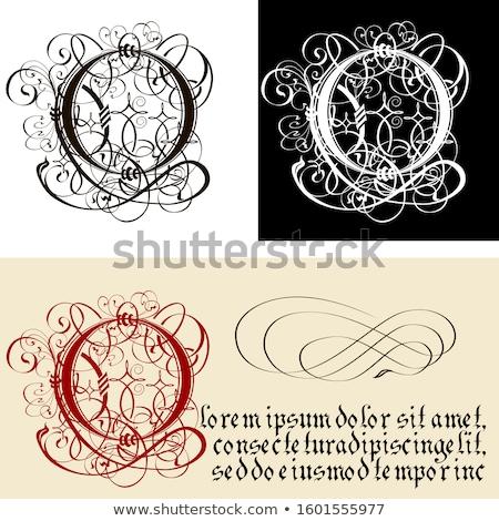 Dekoracyjny gothic kaligrafia wektora eps8 Zdjęcia stock © mechanik