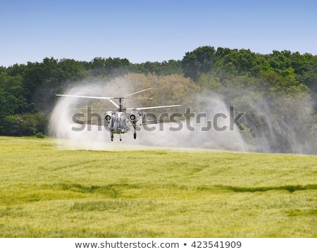 Helicopter spraying crops Stock photo © rcarner