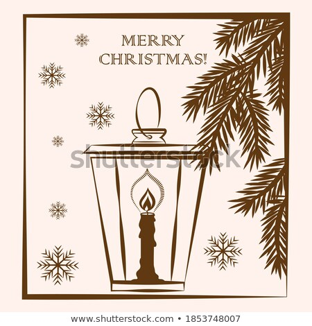Vector Fir Branches with Candlestick Stock photo © dashadima