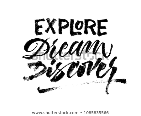Extraordinary word, hand lettering typography modern poster design Stock photo © BlueLela