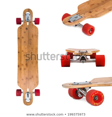 Longboard skateboard set isolated on a white background. Stock photo © Lopolo