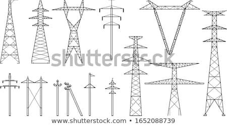 Tangent towers, high voltage electric pylons, power transmission Stock photo © gomixer