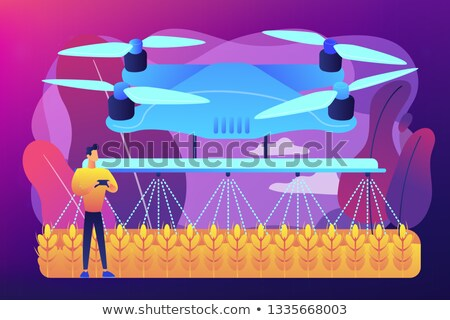 Agriculture drone use concept vector illustration. Stock photo © RAStudio
