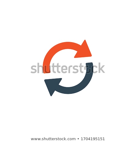 Foto stock: Rotação · círculo · ícone · estoque