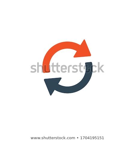 Drehung Pfeile Kreis Symbol hat Stock foto © kyryloff