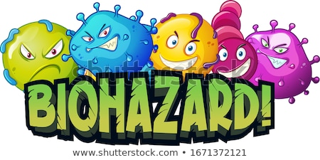 Font design for word biohazard with virus cells Stock photo © bluering