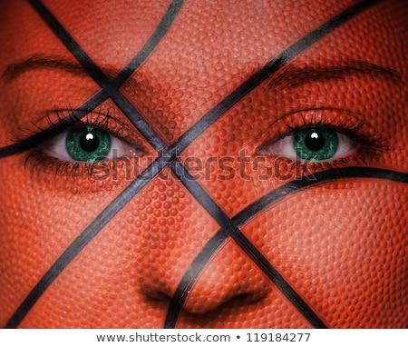 улыбаясь · спортивных · женщину · баскетбол · мяча - Сток-фото © keeweeboy