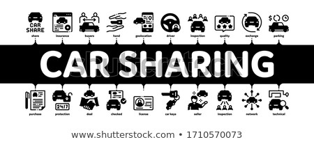 Car Sharing Business Minimal Infographic Banner Vector Stock photo © pikepicture