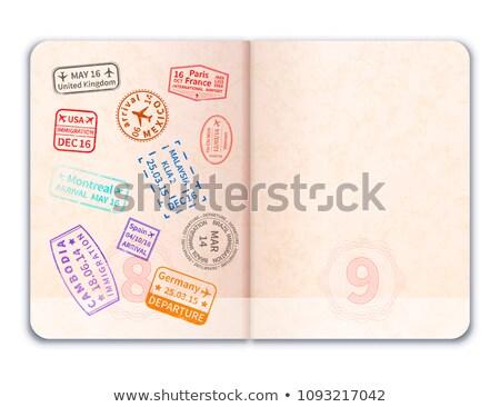 Realista abierto extranjero pasaporte inmigración sellos Foto stock © evgeny89