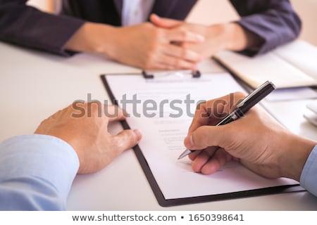 文書 契約 契約 ブローカー 書類 ストックフォト © robuart