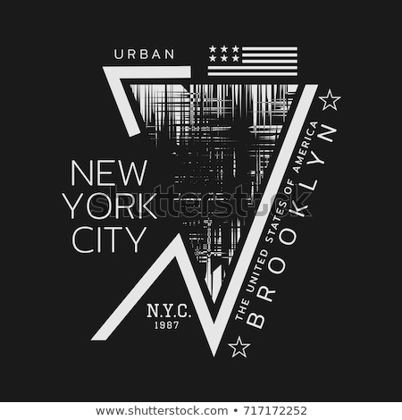 Brooklyn t-shirt graphics. New York athletic apparel design. Vector Stock photo © Andrei_