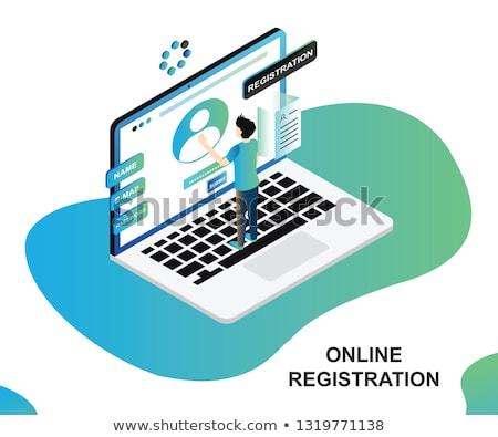 Web applicazione registrazione forma computer portatile schermo Foto d'archivio © AndreyPopov