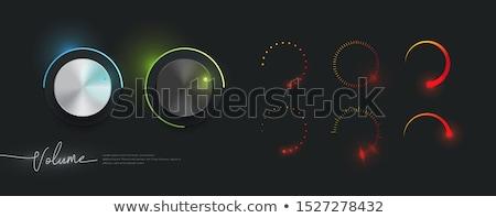 白 · 技術 · ボリューム · 音楽 · ボタン - ストックフォト © orson