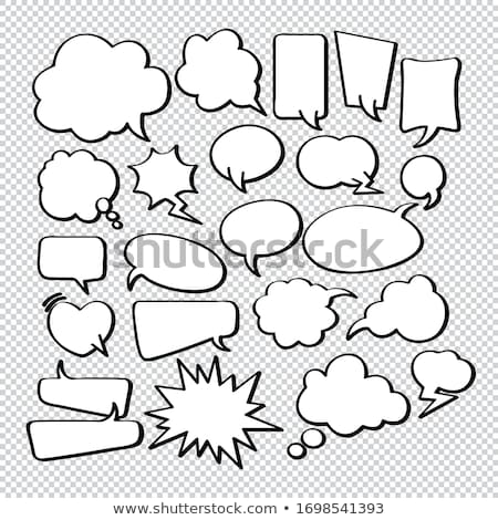 Speech Bubble - Cloud Computing Stock photo © kbuntu