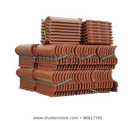 pile of roofing tiles packaged stock photo © deyangeorgiev