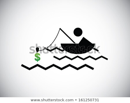 fishing net with money and water Stock photo © illustrart