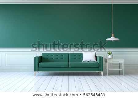 Green modern sofa stock photo © jordygraph