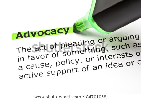 ADVOCACY highlighted in green Stock photo © ivelin
