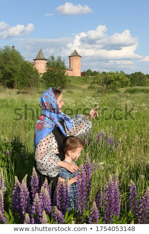 Stock photo: Mother with child in Kremlin
