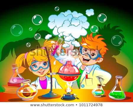 Two scientists do chemical experiment Stock photo © Paha_L