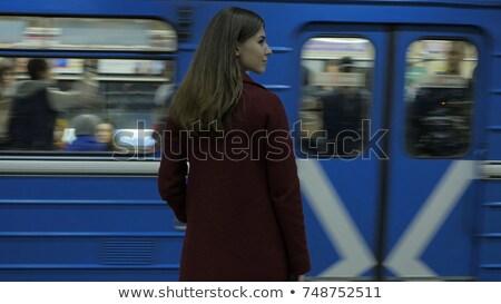 girl in subway wagon stock photo © paha_l