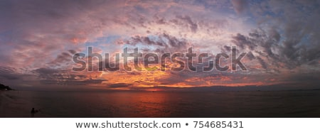 Stock photo: blue sea in stormy dramatic sky day