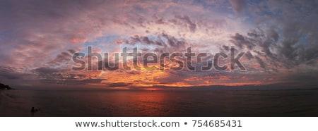 blue sea in stormy dramatic sky day stock photo © lunamarina