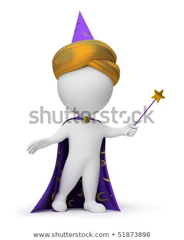 3d small people   magician stock photo © anatolym