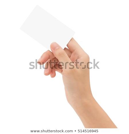 Hand kaart geïsoleerd witte business papier Stockfoto © Raduntsev