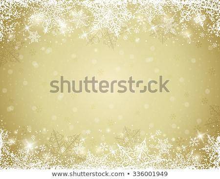 fiocco · di · neve · albero · di · natale · decorazione · confine · ornamento - foto d'archivio © anna_om