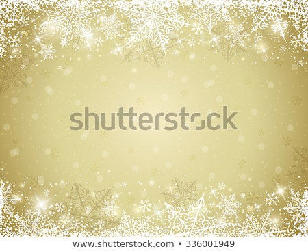 snowflake beige decorative border stock photo © anna_om