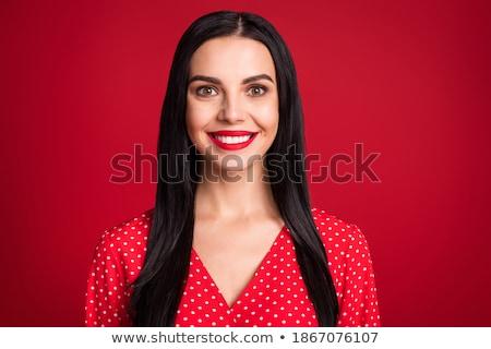 女性 肖像 美しい 髪 孤立した 白 ストックフォト © marylooo