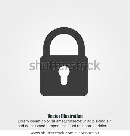 Foto stock: Bloqueo · blanco · seguridad · negro · sombra · protección