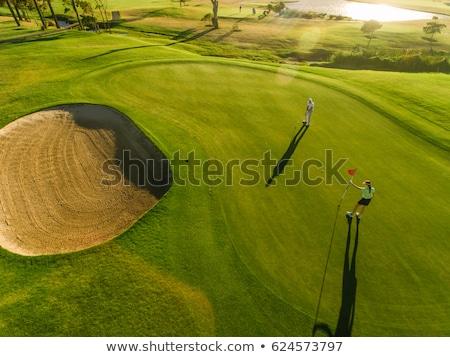 golflabda · nő · tart · klub · golf · jókedv - stock fotó © photography33