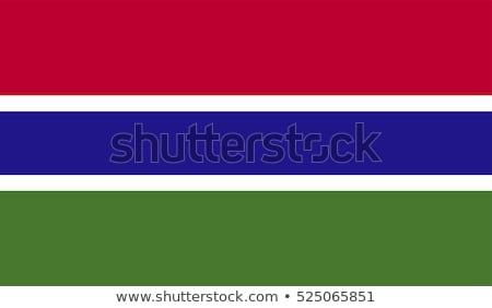 Vlag Gambia wind textuur achtergrond Blauw Stockfoto © cla78