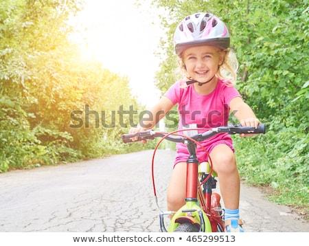 Mädchen Reiten Helm ziemlich Stock foto © ndjohnston