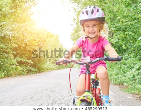 девушки верховая езда шлема довольно Сток-фото © ndjohnston