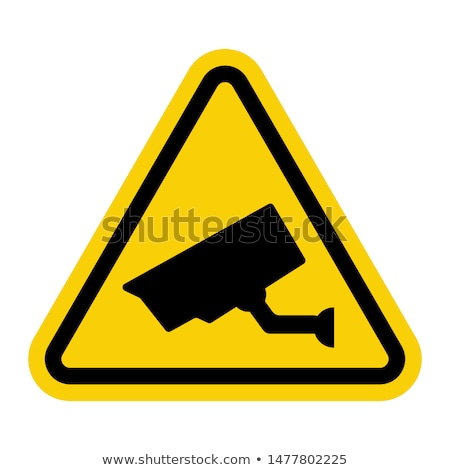 Cctv triângulo símbolos aviso adesivo segurança Foto stock © Ecelop