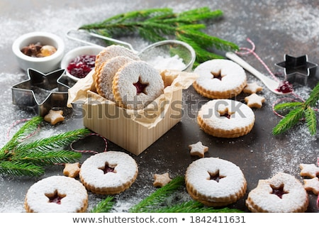 Cookies traditioneel witte plaat hart Stockfoto © jamdesign