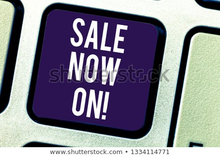 Sale Computer Key Showing Promotion Discount And Reduction stock photo © stuartmiles