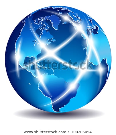 Communication World, Global Commerce - North South America, Europe Stock photo © fenton