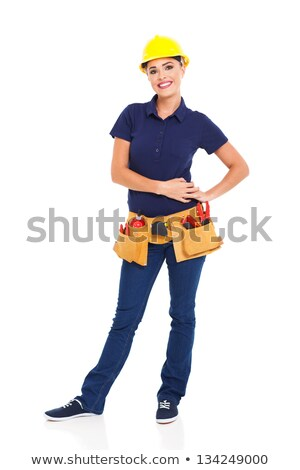 happy handywoman isolated on white background stock photo © photography33