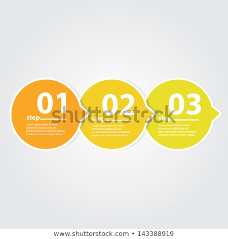 One two three - 3D vector progress buttons Stock photo © orson