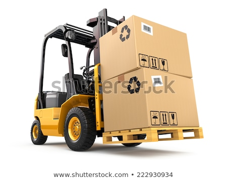 Stock photo: Forklift Truck and Pallet.